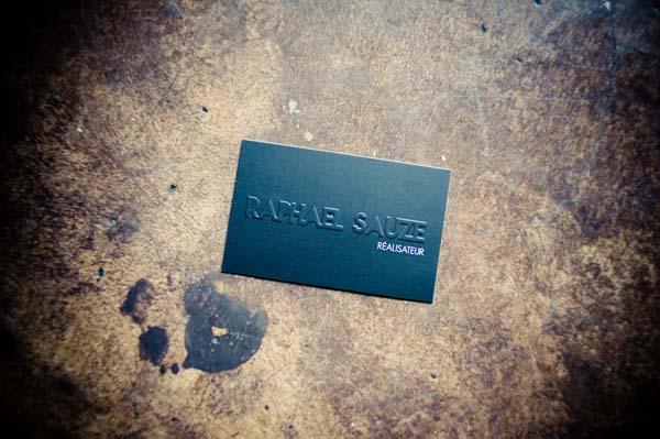 Carte de visite gaufrée Le Studio de Julie