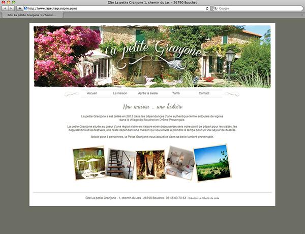 Site internet et carte postale Le Studio de Julie