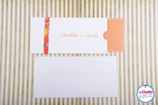 Faire part de mariage, pochette, wedding invitation
